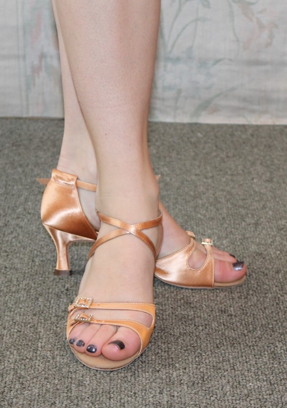 Supadance Tan Satin 2 inch heel