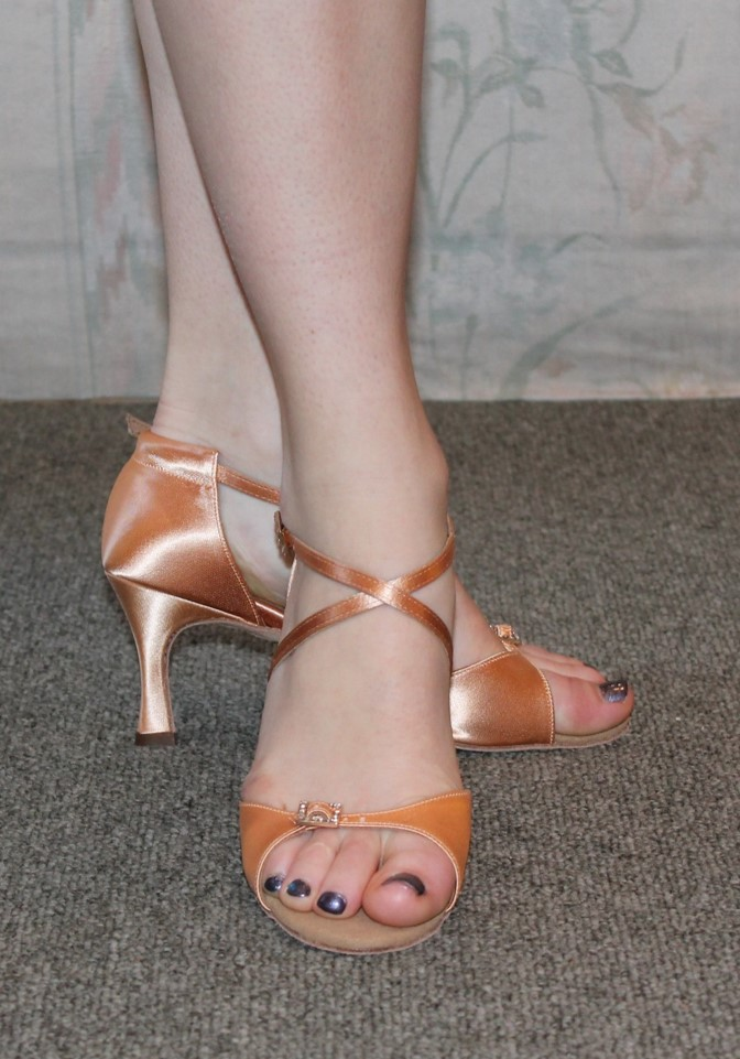 Supadance Adjustable Buckle Tan Satin